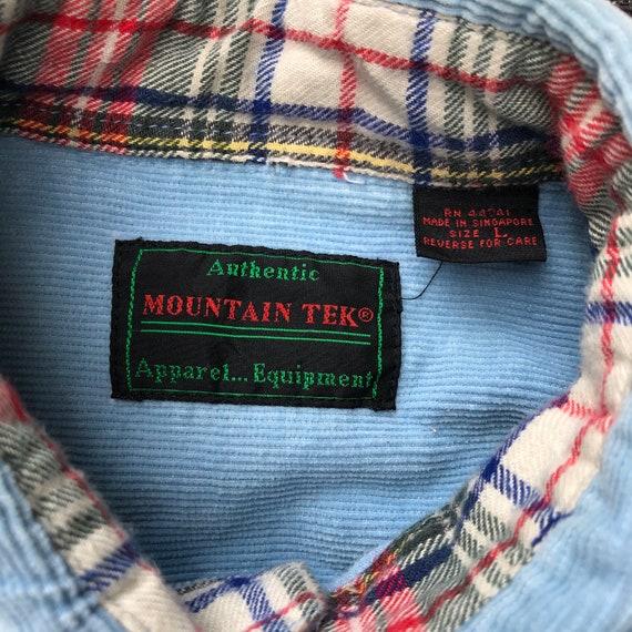 Vintage 80's  Baby Blue Corduroy Camp Shirt - image 4