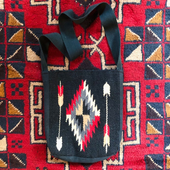 Vintage Chimayo Textile Side Bag/Tote Bag