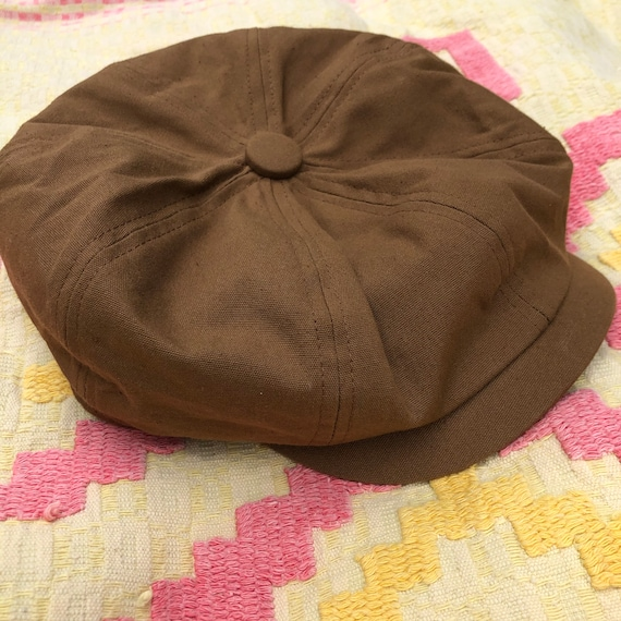 Vintage 90's Does 40's Tawny Brown Newsboy Cap
