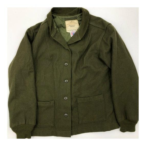 Vintage Wool Military Field Coat Liner