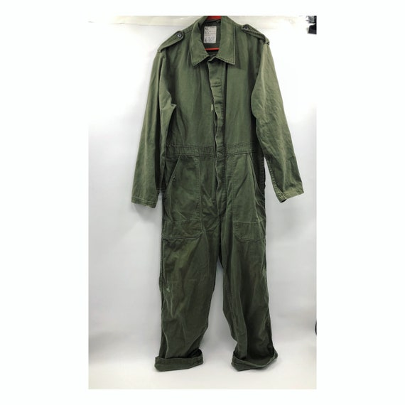 Vintage 1950's Dutch Coveralls /Jumpsuit in Army G