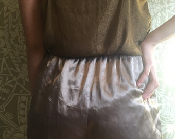 Bronze Silky Pajama Shorts