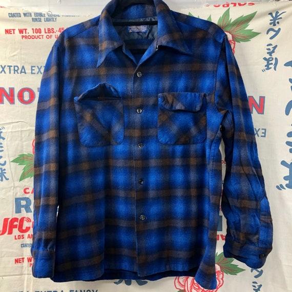 Vintage Pendleton Board Plaid Wool Shirt Jacket