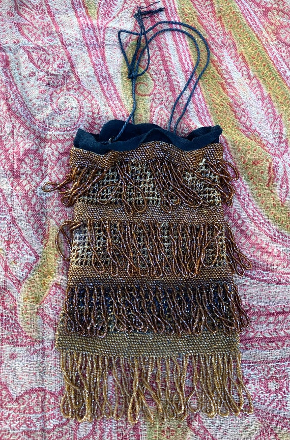 Vintage 1920's Flapper Purse with Glass Beading