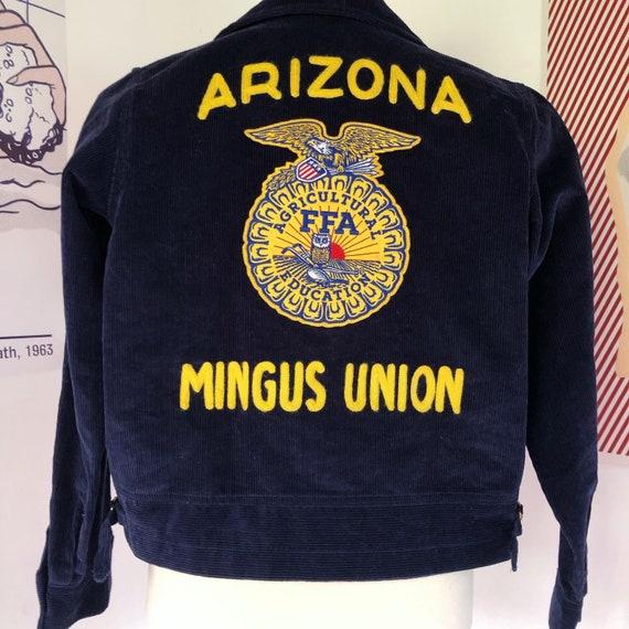 Vintage 2000's  FFA Chain Stitch Corduroy Jacket w