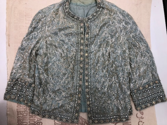 Vintage 1940's Soutache Glittery Beaded Jacket