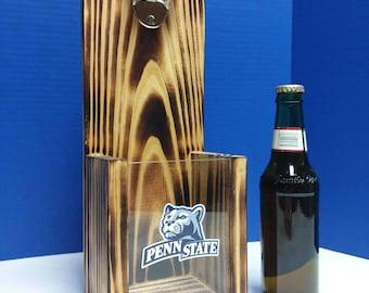 c3b97f2232c Rustic wooden bottle opener, Penn State Nittany Lions