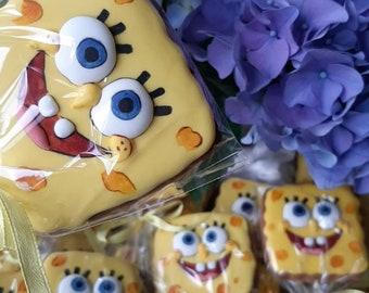 Sponge Bob inspired cookies 1 dozen
