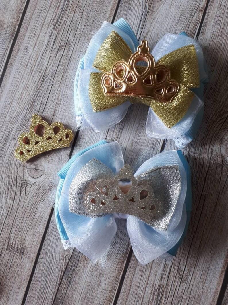 Cinderella inspired hair bow Disney bows Disney hair bows Cinderella birthday Cinderella hair bow Cinderella hair clip Cinderella outfit