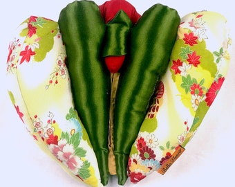 Spring Green Bella Flower Anatomical Vulva puppet