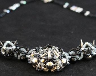 Wicked Jewelry, spike jewelry, spike necklace, 666, Gothicschmuck, rocky jewelry, dark jewelry, darksidebeads, creepy mouth, black silver,