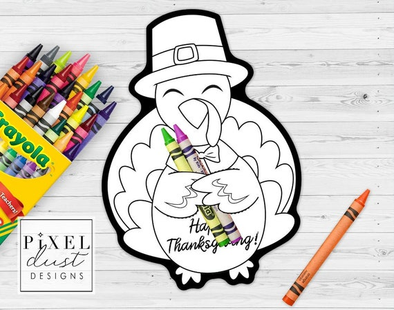 Thanksgiving Turkey Treat Holder Printable Cards Coloring