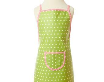 Washable apron/green children apron/back apron/Gardener apron/apron/cooking apron/craft apron/painting/games