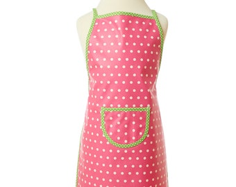 Washable apron/pink child apron/back apron/coated cotton/cooking apron/Gardener apron/Game apron/grocery Store