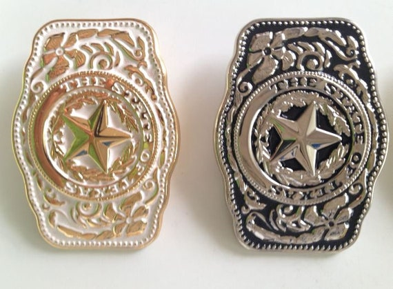 Texas Seal Gift Set Silvertone Belt Buckle, Bolo and Key Ring