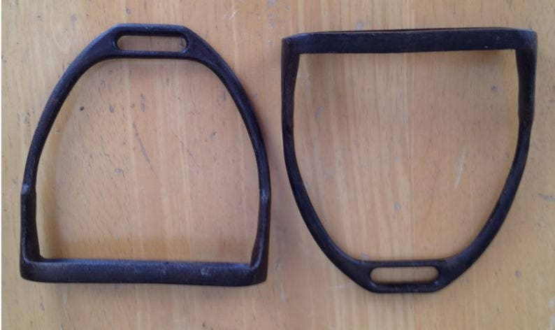 Antique Model 1912 Army cavalry & field artillery stirrups for McClellan  saddles