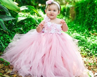 4038393da Princess Flower Girl Birthday Wedding Tutu Custom Evening Gown Baby Kids Girls  Dress