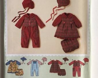 Simplicity 2347 Babies Romper Dress Panties Hats 1 - 18 Months Infant Wardrobe Uncut Sewing Pattern