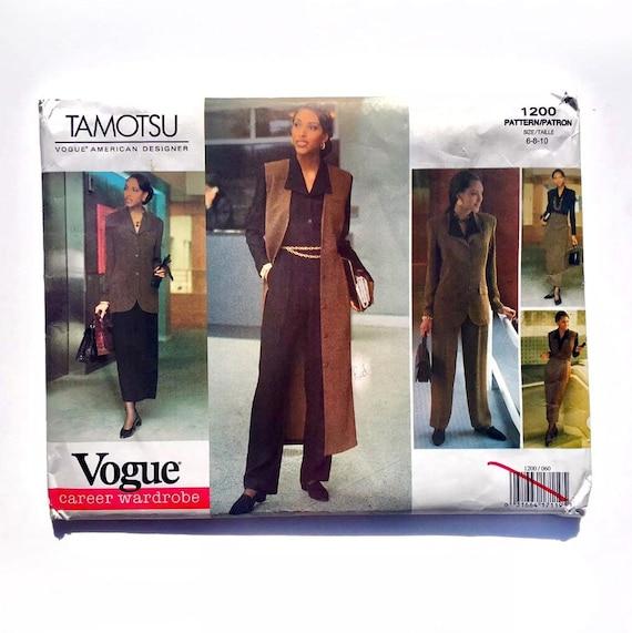 Skirt /& Pants Sewing Pattern Vogue 1200 Misses/'//Miss Petite Jacket Jumper Top