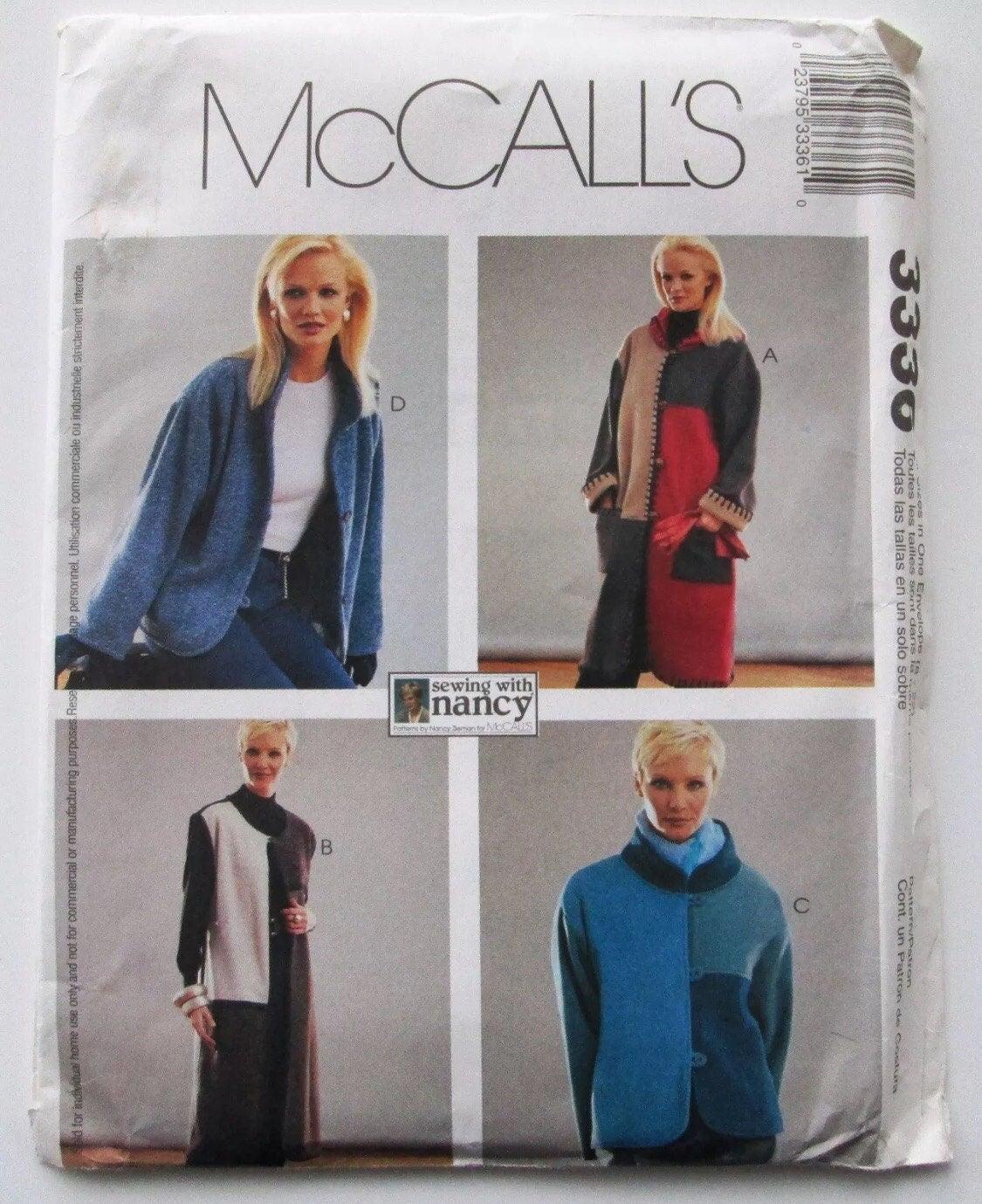 McCalls 3336-Polar-Fleece-Berber-Mantel-Jacke oder Weste