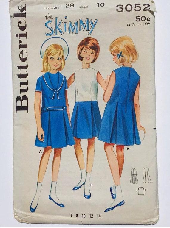 Jahrgang Butt 3052 der Skimmy Kleid Mädchen 10 nautische | Etsy