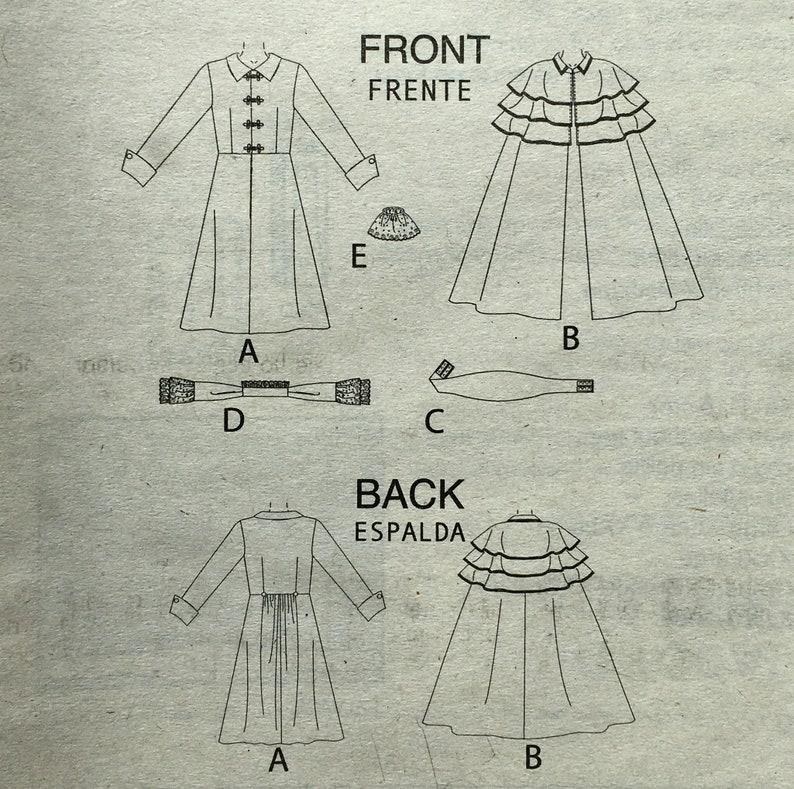 McCall/'s 4550 Men/'s Victorian Cape Coat Cummerbund Jabot Costume S M L Uncut Sewing Pattern