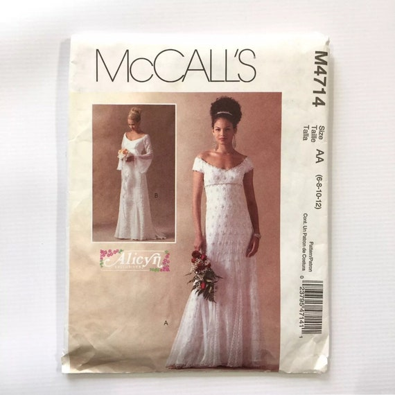 McCall\'s 4714 Alicyn Exclusives Lined Bridal Gowns Fit   Etsy