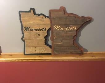 "24"" Deluxe Minnesota Sign - Pallet Wood - FREE SHIPPING!"