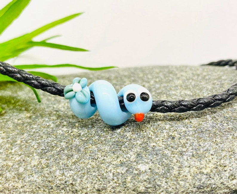 Lampwork glass snake  Lampwork bead by Jacqueline Herzog pearl-witchcraft