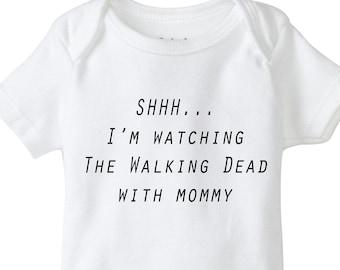 Walking Dead Onesie Bodysuit Shirt Baby Shower Gift Walker Bait