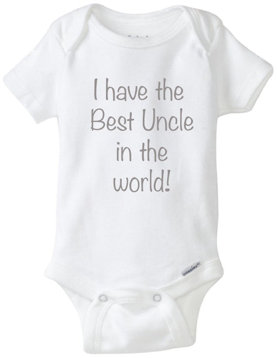 I Have The Best Uncle In The World Baby Bodysuit