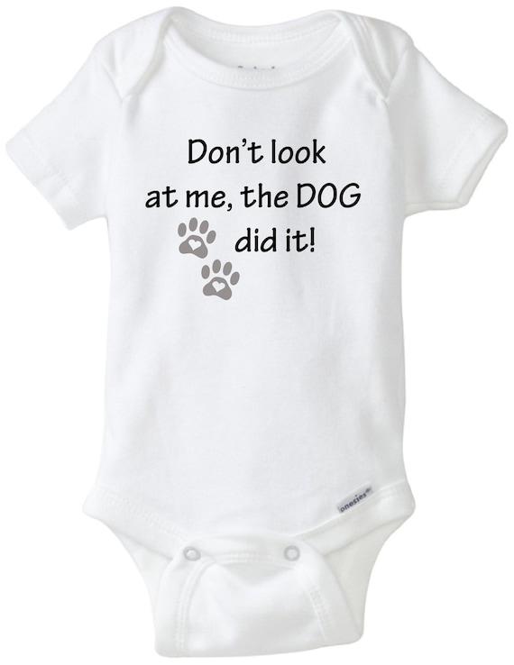 Funny Baby Onesies for Boys Onesies\u00ae Brand Bodysuit The Dog Did It Onesie Baby Boy Gift Baby Shower Gift dog shirt pregnancy announcement