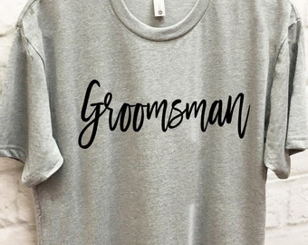 9cb68b66 Groomsman Shirt, Groom Shirt, Best Man Shirt, Bachelor Party Shirts,  Bachelor Party, Bachelor Tshirt, Wedding Party Shirts