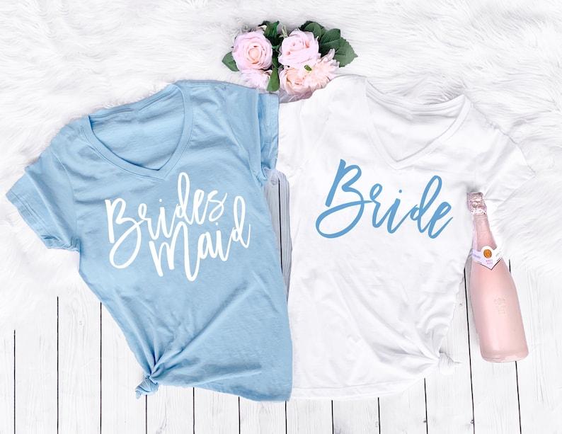 b6da68060b4b Bridesmaid Shirt Bachelorette Shirts Bride Shirt Bridesmaid   Etsy