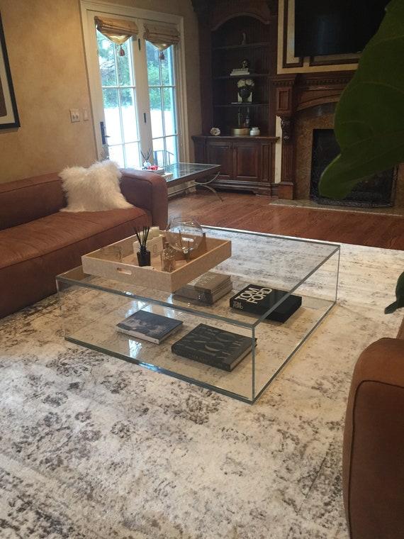 Acrylic Coffee Table Box Style 32 X, Round Acrylic Coffee Table