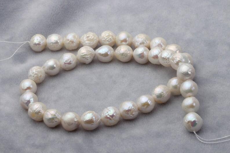 f4f4115df9ed Cadena de perlas barroca collar de perlas blancas perlas