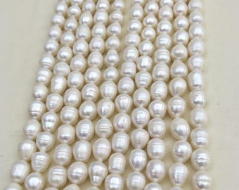 10.5-11.5mm large white potato freshwater pearls,cultured pearl strand wholesale,white genuine loose pearl bead,diy craft supplies