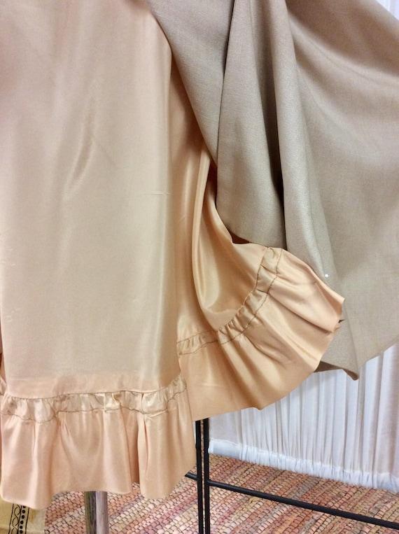 1950's Linen& Lace summer dress, light yellow day… - image 8