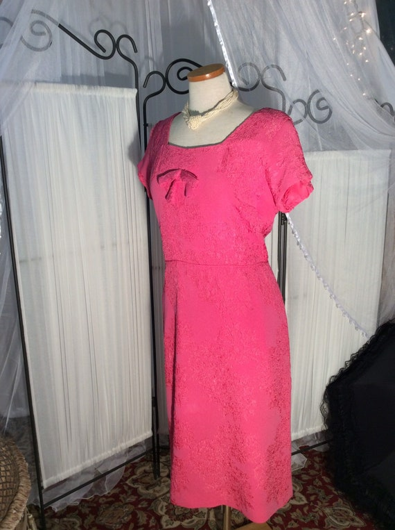 1960's bright pink, day dress and special occasion