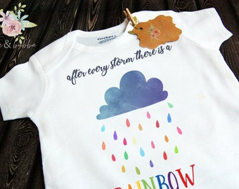 a76510c8b0e59 Rainbow Baby ORIGINAL After Every Storm There Is A Rainbow Onesie® Photo  Prop for Baby Announcement, Infant Bodysuit, Take Home Outfit