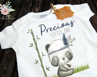 Cute Baby Bodysuit Funny Onesie Cute Onesie Animal Onesie Boho Baby Onesie Known To Cause Panda-Monium Tribal Style Onesie/®