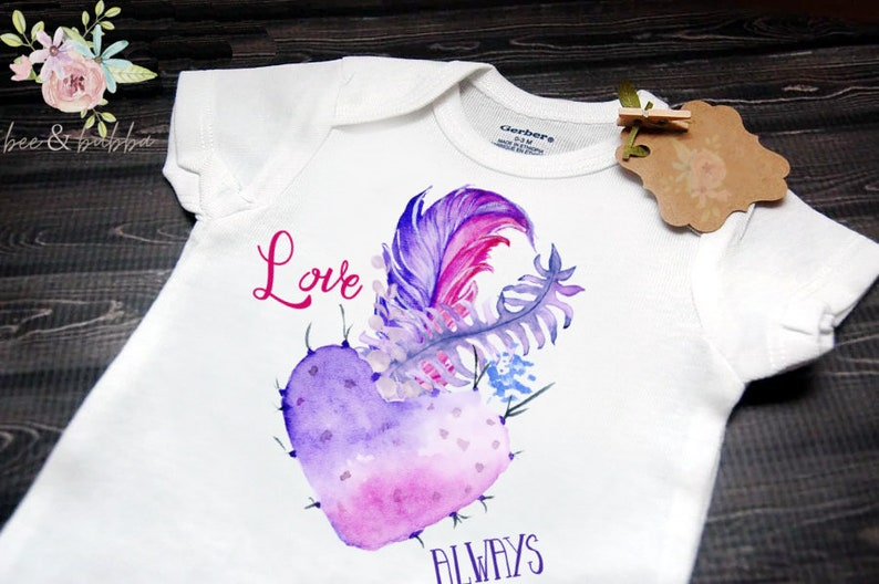 1b092ff84 Cactus Boho Baby Onesie ® for Pregnancy Announcement or Reveal | Etsy