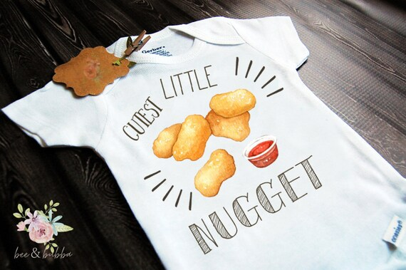 Cutest Little Nugget Baby Onesie For Pregnancy Announcement Etsy