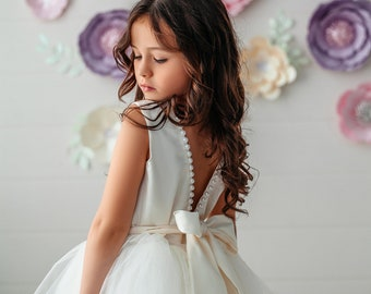 c80e1efcb0d Tulle flower girl dress