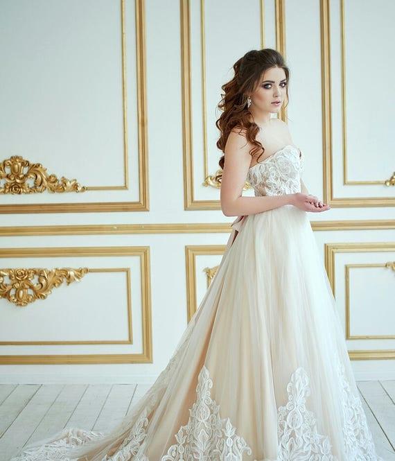 Hochzeit Kleid Berkana Vintage Hochzeit Kleid Romantische Etsy