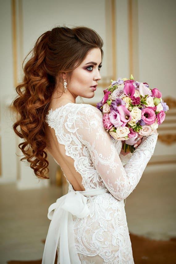 Wedding Dress Renaissance Lace Wedding Dress Bohemian | Etsy