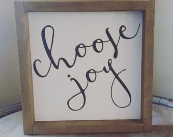 Choose Joy Framed Sign