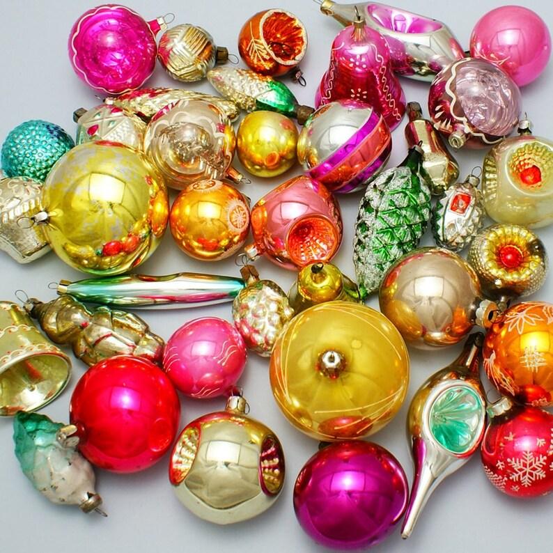Geschenke Russland Weihnachten.10 Weihnachten Glas Ornamente Zufällige Russische Glas Multicolor Retro Udssr Dekor Urlaub Geschenk Quecksilber Glas Sowjetische Weihnachtsschmuck