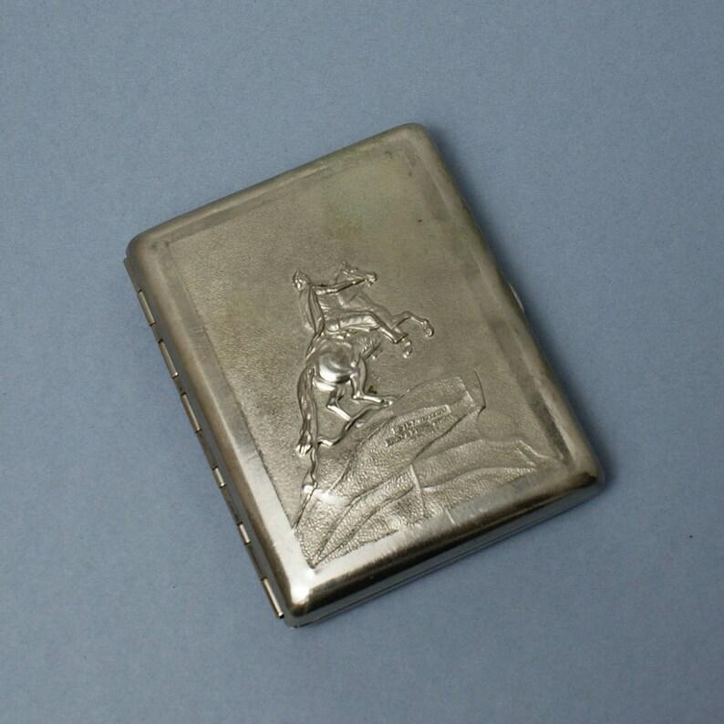 Etui A Cigarettes Vintage Sovietique Nickele