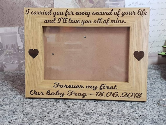 Loved for a lifetime Miscarriage Personalised Wooden Photo Frame